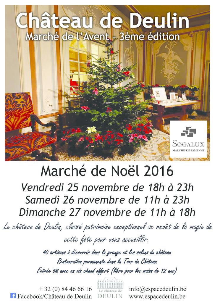 3ème Marché de l'Avent - Marché de Noël - 25, 26, 27 novembre 2016